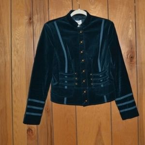 Vintage Blue Jacket with Straps and Brass Buttons